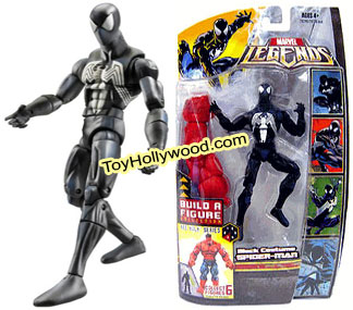 sc 1 st  Toy Hollywood & Spiderman (Black Costume) Action Figure - Red Hulk BAF Series